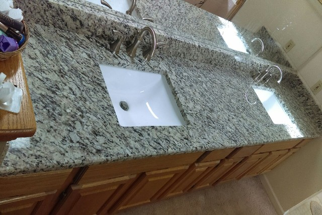 Santa cecilia granite with short bevel edges 861