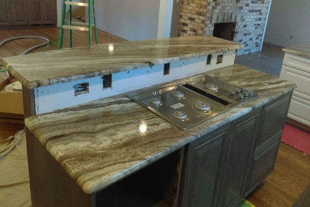 Fantasy brown granite with half bullnose edges 832