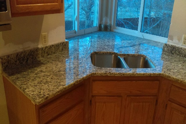 Santa cecilia granite with short bevel edges 858