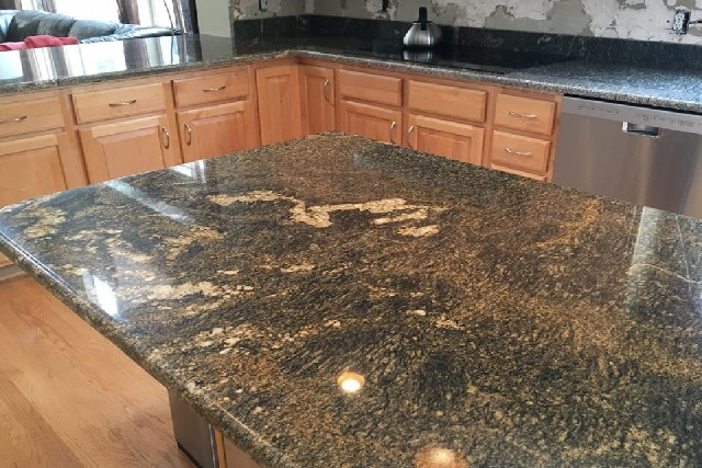 Granite and Quartz Slab Kitchen Center Islands 1