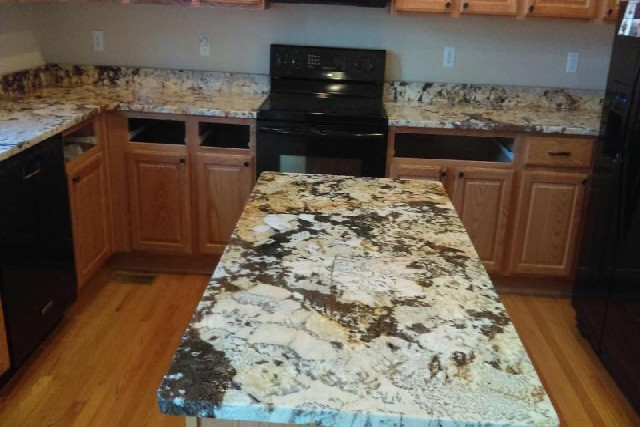 Granite and Quartz Slab Kitchen Center Islands 4